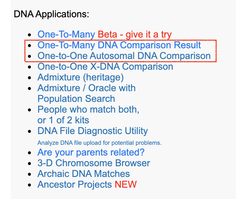 GEDmatch review tools