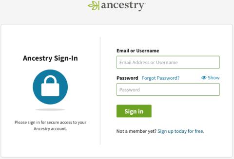 Ancestry.com login