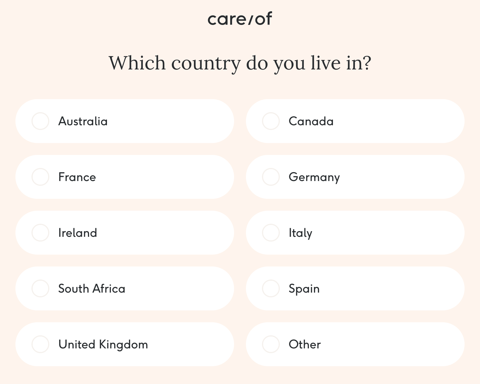 Care/of countries