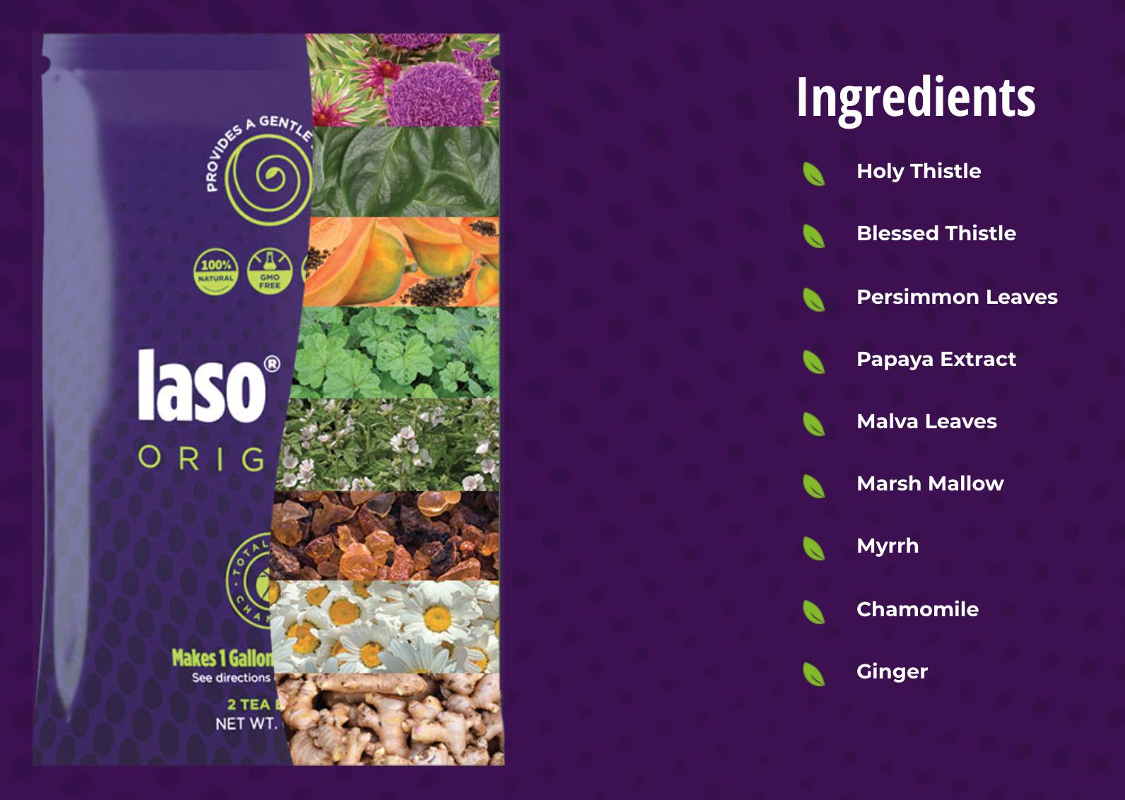 Iaso Tea Ingredients