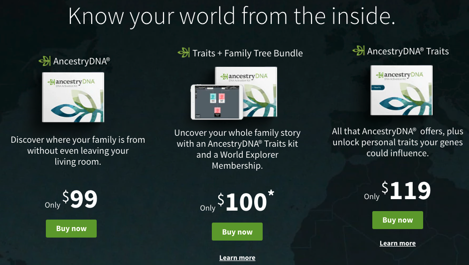 How much is a DNA test from Ancestry