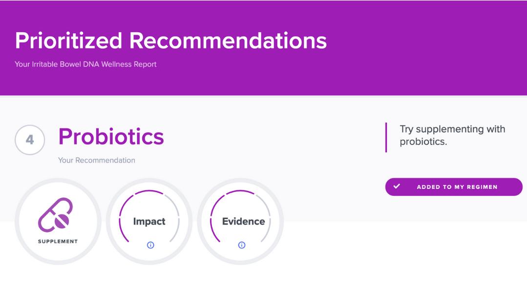 Probiotics for IBS DNA recommendations